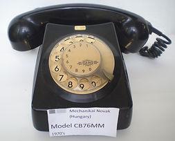 MECHANIKAI MOVAK (Hungary) Model CB76MM 197Collection of historic telecom equipTelecom milestones, telecom history, virtual museum, Amateur Radio, Telephone Answering, Telegraph history, Telephone History, Vacuum Tubes History, Telephone answering mac0's,