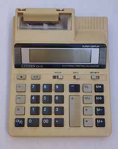 CITIZEN CX-75, Collection of computers calculators and office equipment, SINCLAIR ZX81, HP iPAQ 1945 pocket PC, Sliding rule NESTLER 0123 Riez,Zeny LC-200, Zeny SR-100,Casio fx-3600P, Casio SF-7000, Citizen CX-75, Seiko EK450J, Seiko DA71K, Remington Envoy