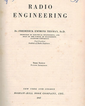 Radio Engineering by Fredrick Emmons Terman, Documents Archive, Books on radio electronics engineering in the Electron Tubes Era