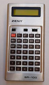 ZENY SR-100 LCD SCIENTIFIC CALCULATOR,Collection of computers calculators and office equipment, SINCLAIR ZX81, HP iPAQ 1945 pocket PC, Sliding rule NESTLER 0123 Riez,Zeny LC-200, Zeny SR-100,Casio fx-3600P, Casio SF-7000, Citizen CX-75, Seiko EK450J, Seik