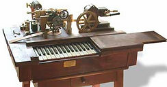Hughes telegraph prinyer, Necessity is the Mother of invetion, Cooke and Wheatstone Needles Telegraph, Samuel Morse Telegraph, House Hughes and Phelps printing telegraph, Elisha Gray and Alexander Bell the telephone inventors, Almon Strowger rotary dia