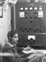 S/S Tel-Aviv 4XVN Radio Room - history of wireless telegraph