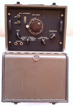 "SIGNAL CORPS FREQUENCY METER  BC-221-AK 125 TO 20,000 KILTest and Measurement Instruments collecyion,""Range-Doubler"" KRT-500, EICO 430 oscilloscope, BC-221 frequency MeterOCYCLES,"