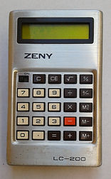 ZENY LC-200,  Collection of computers calculators and office equipment, SINCLAIR ZX81, HP iPAQ 1945 pocket PC, Sliding rule NESTLER 0123 Riez,Zeny LC-200, Zeny SR-100,Casio fx-3600P, Casio SF-7000, Citizen CX-75, Seiko EK450J, Seiko DA71K, Remington Envoy