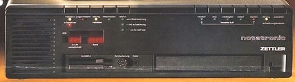 Zettler NOTATRONIC telephone aThe Ipsophone of Willy Muller - telephone answering history, Alibiphon, Alibicord, Alibinota, A-Z-Zet, Alibiphonomat, Notatronic, Zet-Com, Alois Zettler GmbH, Compact-Cassettenswering machine- history,