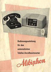 Alibiphon advertisement - telephone aThe Ipsophone of Willy Muller - telephone answering history, Alibiphon, Alibicord, Alibinota, A-Z-Zet, Alibiphonomat, Notatronic, Zet-Com, Alois Zettler GmbH, Compact-Cassettenswering history,