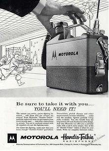 "MOTOROLA ""WALKIE - TALKIE"" Advertisement"