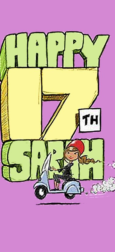 SARAH 17TH BIRTHDAY