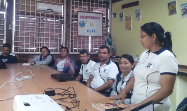 Keila Navas, the School Principal introducing Tepui