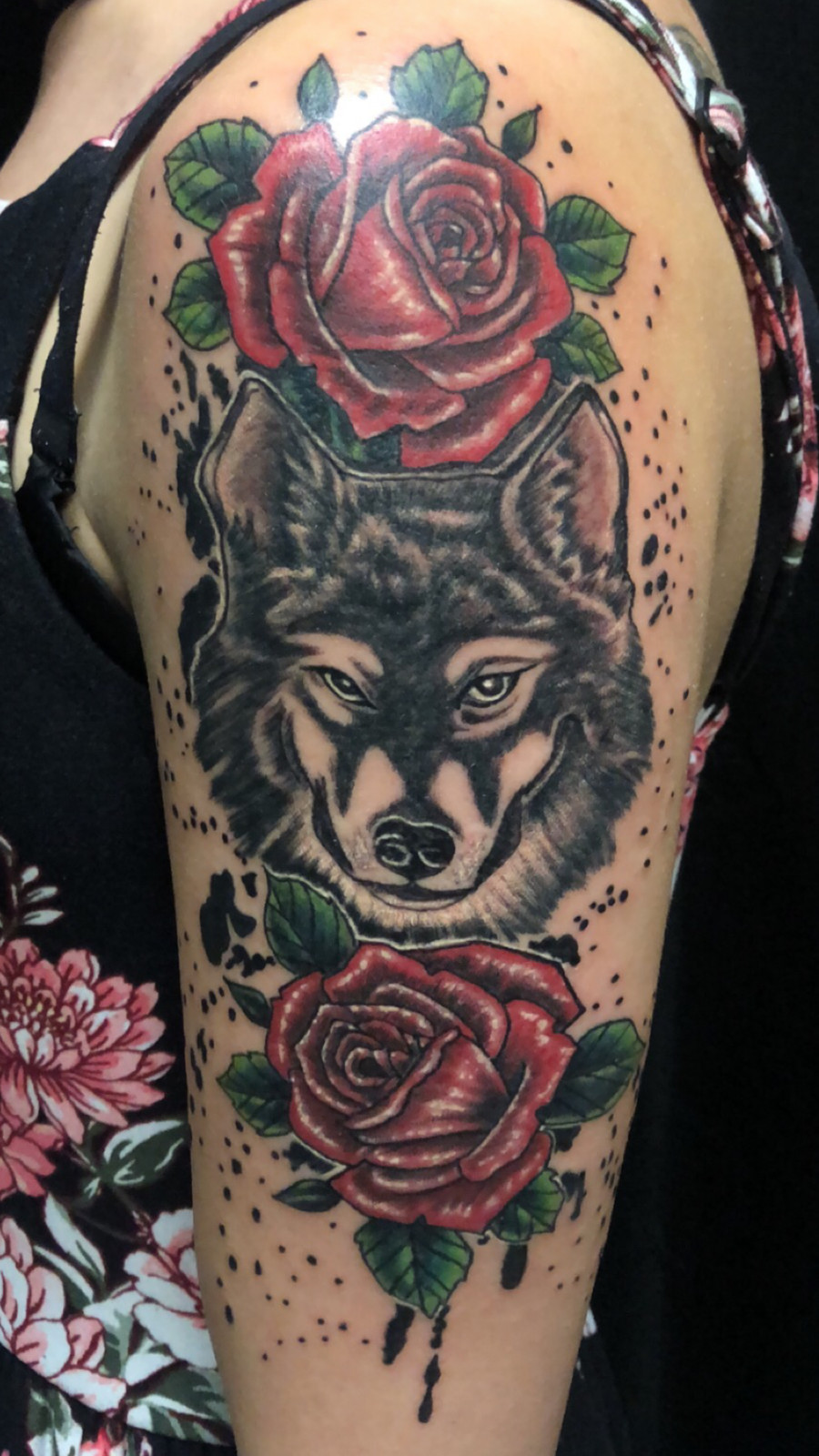 Rose Wolf Roses Tattoo Frankie Bonze House Of Pain