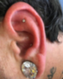 Inner conch, and flat cartilage piercing