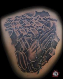 Prayer, Religious, Praying Hands, Rosay, Tattoo, Frankie Bonze, House Of Pain, 30 Holiday Rambler, Byram, Mississippi, 39272