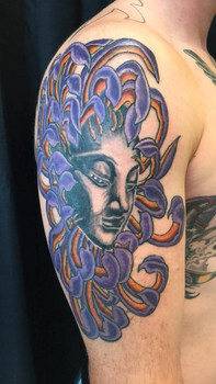 Chrysanthemum, Buddah, Color, Koi Fish, Color, Waves, Ocean, Tattoo, Frankie Bonze, House Of Pain, 30 Holiday Rambler, Byram, Mississippi, 39272