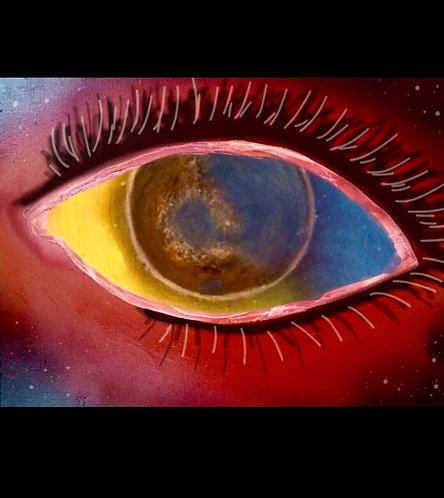 """Earths Eye"" Canvas Oil Painting"