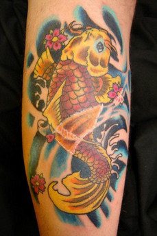 Koi Fish, Color, Waves, Ocean, Tattoo, Frankie Bonze, House Of Pain, 30 Holiday Rambler, Byram, Mississippi, 39272