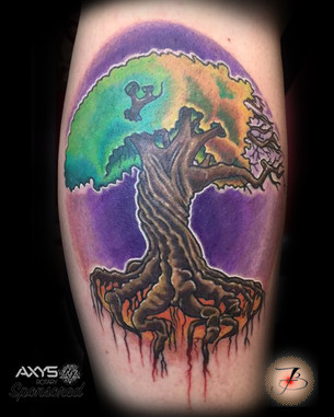 Tree Of Life, And Death, Seasons, Tattoo, Frankie Bonze, House Of Pain, 30 Holiday Rambler, Byram, Mississippi, 39272