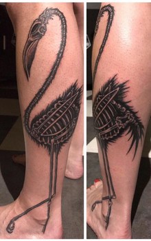 Flamingo Skeleton, Flamingo, FreeKoi Fish, Color, Waves, Ocean, Freehand, Black and Grey, Koi Fish, Color, Waves, Ocean, Tattoo, Frankie Bonze, House Of Pain, 30 Holiday Rambler, Byram, Mississippi, 39272