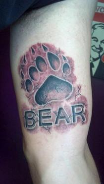 Paw Print, Bear, Tattoo, Frankie Bonze, House Of Pain, 30 Holiday Rambler, Byram, Mississippi, 39272