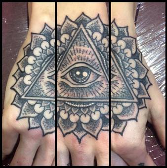 All Seeing Eye, Mandala, Stipple, Tattoo, Frankie Bonze, House Of Pain, 30 Holiday Rambler, Byram, Mississippi, 39272