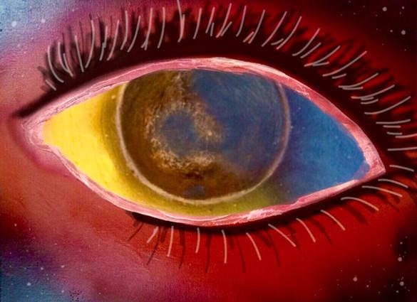 Eye of the world, Eye, Prints, Space, Stars, Painting, Oils, Frankie Bonze, House Of Pain, 30 Holiday Rambler, Byram, Mississippi, 39272