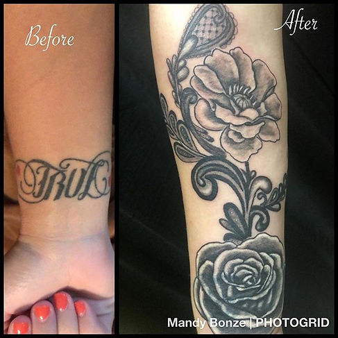 I did a little coverup action today on a