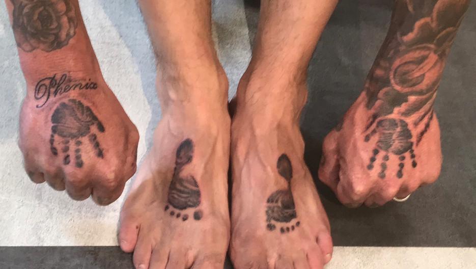 Baby , Hand Prints , Foot Prints , Tattoo, Frankie Bonze, House of Pain