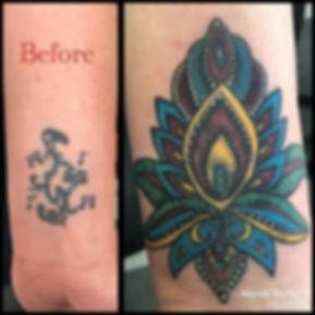 Colorful lotus mandala coverup I made to