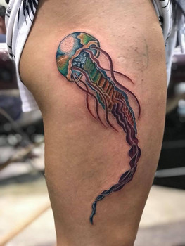 Jelly Fish, Water Color, Waves, Ocean, Tattoo, Frankie Bonze, House Of Pain, 30 Holiday Rambler, Byram, Mississippi, 39272