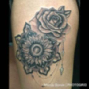 sunflower mandala I made today on _kayl