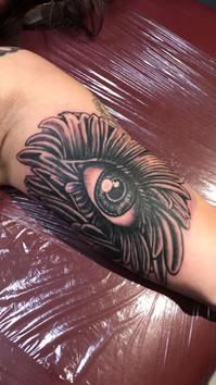 Eye, Daisy, Custom, Black and Grey,  Tattoo, Frankie Bonze, House Of Pain, 30 Holiday Rambler, Byram, Mississippi, 39272