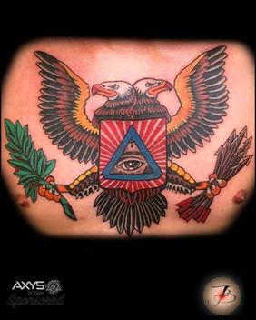 Eagle, Traditional, Wings, Mason, Masonic, Double Headed Eagle, Tattoo, Frankie Bonze, House Of Pain, 30 Holiday Rambler, Byram, Mississippi, 39272
