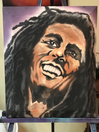"Bob Marley, Painting, Oils, Hand streched Canvass, 14""x18"", Frankie Bonze, House Of Pain, 30 Holiday Rambler, Byram, Mississippi, 39272"