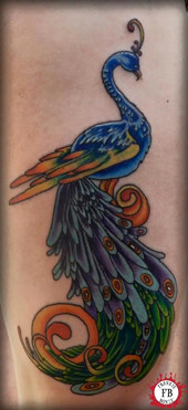 Peacock, Color, Feathers, Detail,  Tattoo, Frankie Bonze, House Of Pain, 30 Holiday Rambler, Byram, Mississippi, 39272