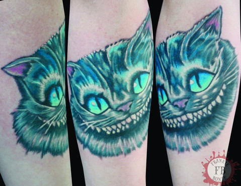 Cheshire Cat, Alice In Wonderland, 3D,  Tattoo, Frankie Bonze, House Of Pain, 30 Holiday Rambler, Byram, Mississippi, 39272