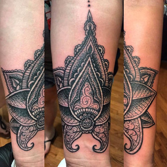 Lotus Flower, Mandala, Stipple, Tattoo, Frankie Bonze, House Of Pain, 30 Holiday Rambler, Byram, Mississippi, 39272
