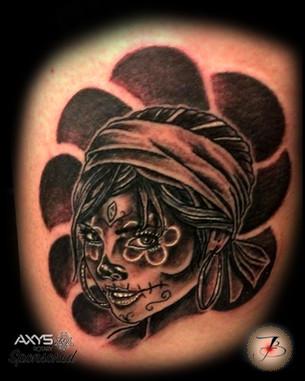 Gypsy, Dia de Le Muertos, Tattoo, Frankie Bonze, House Of Pain, 30 Holiday Rambler, Byram, Mississippi, 39272