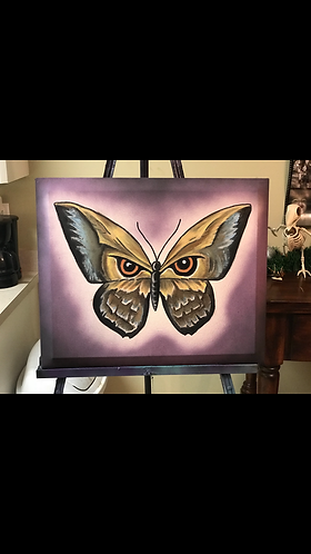 """FlutterEyes"" Canvas Oil Painting"