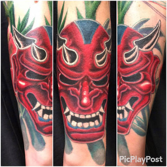 Oni Mask, Devil, Bamboo, Tattoo, Frankie Bonze, House Of Pain, 30 Holiday Rambler, Byram, Mississippi, 39272