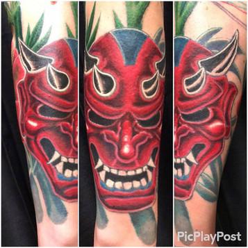 Oni Mask, Devil, Bamboo, Tattoo, Frankie Bonze, House Of Pain, 30 Holiday Rambler, Byram, Mississippi, 39272