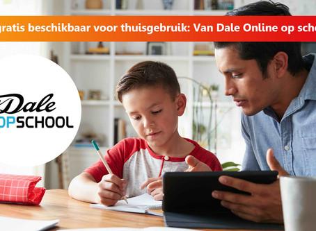Basis- en juniorwoordenboeken van VAN DALE tijdelijk gratis beschikbaar in de Onlineklas portal.