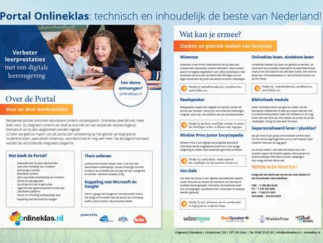 Portal Onlineklas: technisch en inhoudelijk de beste van Nederland!