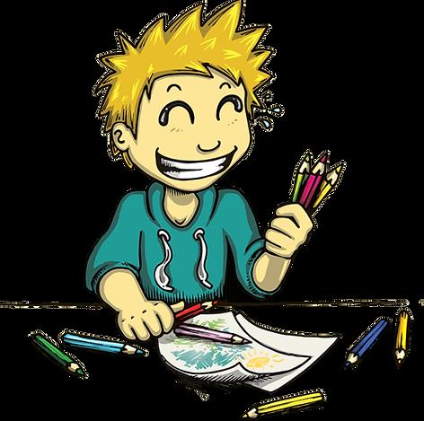 Enfant coloriage illustration