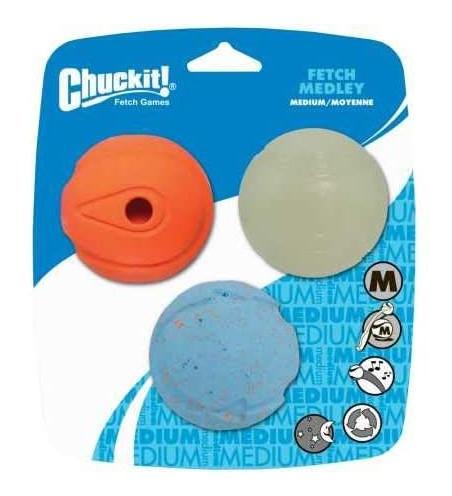 ChuckIt 3 Pack Medium Fetch Medley Balls