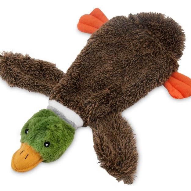 Duck 2 in 1 Fun Skin Stuffingless Dog Squeak Toy