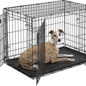 "MidWest iCrate 36"" Double Door Folding Metal Dog Crate"