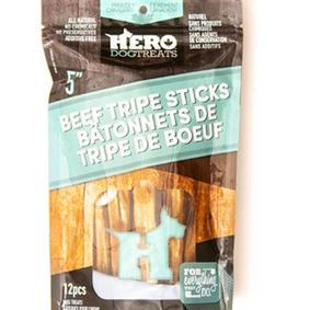 Dehydrated Beef Tripe Sticks 5in 12 pack