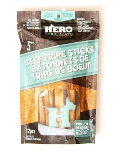 Dehydrated Beef Tripe Sticks 5in 12 pack