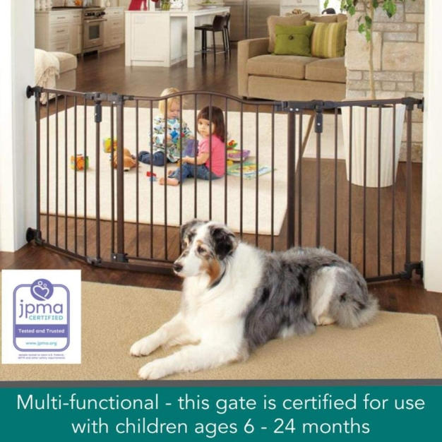 Extra Wide Dog Gate 38 to 72in