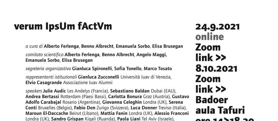 Lecture @ IUAV University of Venice