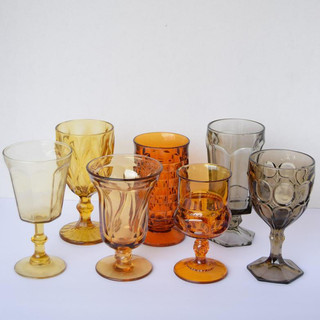 Amber, Yellow and Smoke Goblets